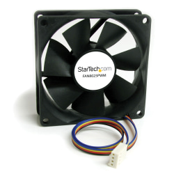 StarTech.com 80x25mm Computer Case Fan with PWM - Pulse Width Modulation Connector - 1 x 80mm Lubricate Bearing