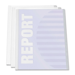 "C-Line® Report Covers With Binding Bars, 8 1/2"" x 11"", Clear, Box Of 50"