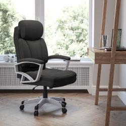 Flash Furniture HERCULES Big & Tall Fabric High-Back Swivel Office Chair, Black/Silver