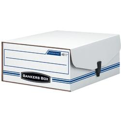 "Bankers Box® Liberty® Binder Pak Storage Box, 4 3/4"" x 9 3/4"" x 11 7/8"", 35% Recycled, White/Blue"