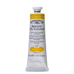 Winsor & Newton Artists' Oil Colors, 37 mL, Naples Yellow Deep, 425, Pack Of 2