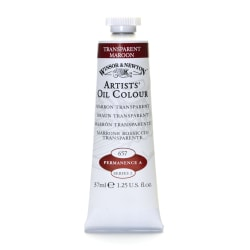 Winsor & Newton Artists' Oil Colors, 37 mL, Transparent Maroon, 657, Pack Of 2