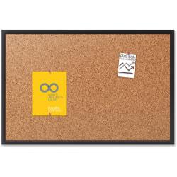 "Quartet® Classic Cork Bulletin Board, 18"" x 24"", Aluminum Frame With Black Finish"