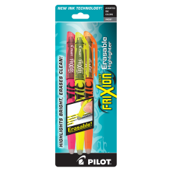 Pilot® FriXion® Light Erasable Highlighters, Chisel Point, Assorted, Pack Of 3