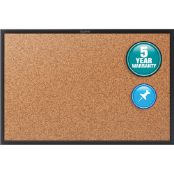 "Quartet® Classic Cork Bulletin Board, 48"" x 36"", Aluminum Frame With Black Finish"