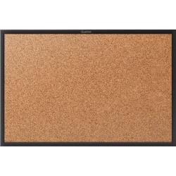 "Quartet® Classic Cork Bulletin Board - 48"" Height x 72"" Width - Brown Natural Cork Surface - Black Aluminum Frame - 1 / Each"