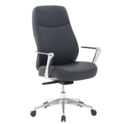 Serta® Commercial Motif Bonded Leather High-Back Executive Chair, Black