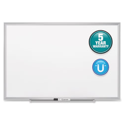 "Quartet® Classic Magnetic Dry-Erase Board, 36"" x 48"", Silver Aluminum Frame"
