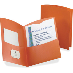Oxford® Contour 2-Pocket Folders, Letter Size, Orange, Box Of 25 Folders