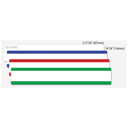 "Seiko SmartLabel SLP-4AFL File Folder Label - 0.56"" Width x 3.43"" Length - 130/Roll - 0.79"" Core - 4 Roll - Yellow, Pink, Blue, Green"
