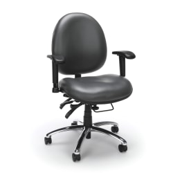 OFM 24-Hour Big And Tall Anti-Microbial Anti-Bacterial Task Chair, Charcoal/Black