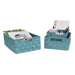 GNBI Nylon 4-Piece Basket Set, Teal