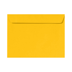"""LUX Booklet Envelopes With Moisture Closure, #9 1/2, 9"""" x 12"""", Sunflower Yellow, Pack Of 50"""