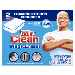 Mr. Clean® Magic Erasers Kitchen Scrubbers With Dawn, Pack Of 2