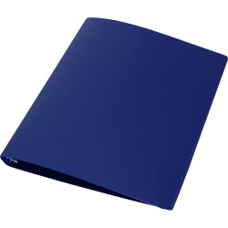 "Samsill® Poly 3-Ring Binder, 1"" Round Rings, Blue"