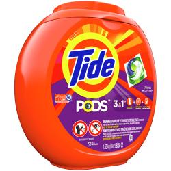 Tide® 3 In-1 Pods Laundry Detergent, Bottle Of 72 Pods