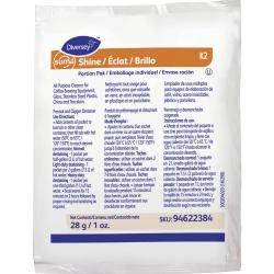 Diversey Sealed Air Suma Shine Portion Pak - Powder - 0.99 oz (0.06 lb) - 100 / Carton - White
