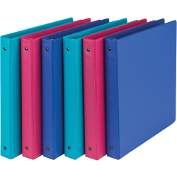 """Samsill® Value Storage 3-Ring Binder, 1"""" Round Rings, Recycled, Assorted"""