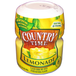 Country Time Lemonade Drink Mix, 19 Oz, Case Of 12