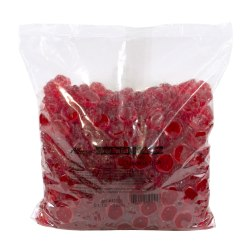 Albanese Confectionery Gummies, Ripe Red Raspberry Gummies, 5-Lb Bag