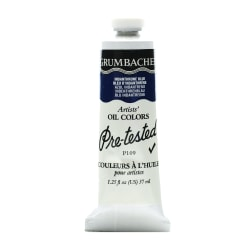 Grumbacher P109 Pre-Tested Artists' Oil Colors, 1.25 Oz, Indanthrone Blue