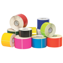 "Tape Logic® Write™On Rectangle Inventory Label Roll, DL635H, 6"" x 4"", Fluorescent Orange, Roll Of 500"