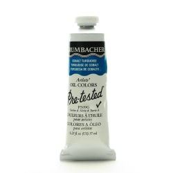 Grumbacher P309 Pre-Tested Artists' Oil Colors, 1.25 Oz, Cobalt Turquoise