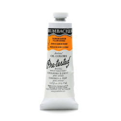 Grumbacher P035 Pre-Tested Artists' Oil Colors, 1.25 Oz, Cadmium Barium Yellow Orange