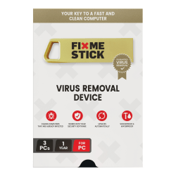 FixMeStick® Virus Removal, For 3 Devices, 1-Year Subscription, USB Flash Drive