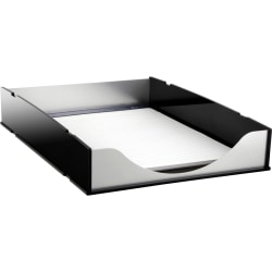 "Kantek Front-loading Letter Tray - 2.3"" Height x 10.3"" Width x 13.5"" Depth - Desktop - Stackable - Aluminum - Acrylic, Aluminum - 1 Each"