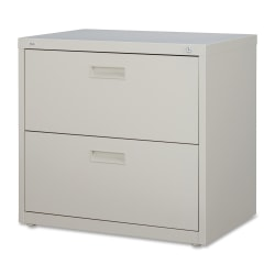 "Lorell® 30""W Lateral 2-Drawer File Cabinet, Metal, Putty"