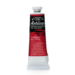 Winsor & Newton Artisan Water Mixable Oil Colors, 37 mL, Cadmium Red Dark, 104, Pack Of 2