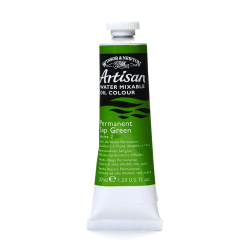 Winsor & Newton Artisan Water Mixable Oil Colors, 37 mL, Permanent Sap Green, 503, Pack Of 2