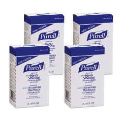 Purell® Instant Hand Sanitizer Refills, Unscented, 2000 mL Refill Bags, Case Of 4