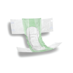 """FitRight Plus Disposable Briefs, XX-Large, 60 - 69"""", Green, Bag Of 20"""