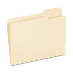 Oxford® 1/3-Cut File Folders, Letter Size, Manila, Box Of 100