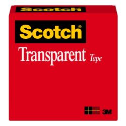 "Scotch® Transparent Tape, 1"" x 2,592"", Pack Of 12 Rolls"