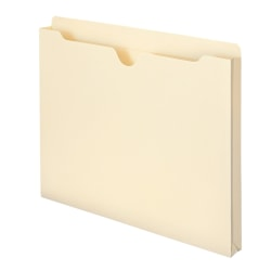 "Smead® Expanding Reinforced Top-Tab File Jackets, 1"" Expansion, Letter Size, Manila, Box Of 50"