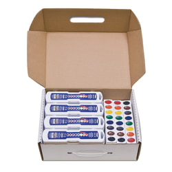 Prang® Semi-Moist Watercolor Master Set, Assorted Colors, Set Of 36