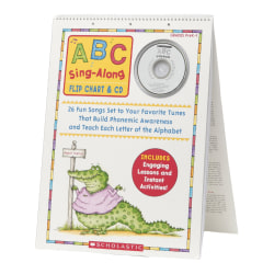 Scholastic Res. PreK-1 ABC Sing-Along Flip Chart - Theme/Subject: Learning - Skill Learning: Alphabet, Phonemic Awareness, Letter Recognition
