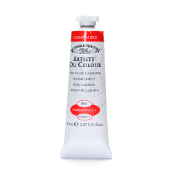 Winsor & Newton Artists' Oil Colors, 37 mL, Cadmium Red, 94