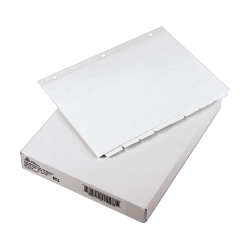 "Avery® Plain Tab Write-On Dividers, 8 1/2"" x 11"", 20% Recycled, White, 8-Tab, Case Of 24"