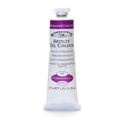Winsor & Newton Artists' Oil Colors, 37 mL, Permanent Mauve, 491
