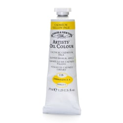 Winsor & Newton Artists' Oil Colors, 37 mL, Cadmium Yellow Pale, 118