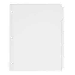 "Avery® Plain Tab Write-On Dividers, 8 1/2"" x 11"", White Dividers/White Tabs, 5-Tab, Box Of 36"