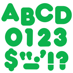 """TREND Ready Letters®, Casual, 3"""", Green, Pre-K - Grade 12, Pack Of 124"""