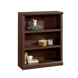 "Realspace® Premium 44""H 3-Shelf Bookcase, Mocha"