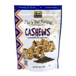 Pennsylvania Dutch Candies Nut'n But Natural Cashews With Cocoa Nibs, 4 Oz, Pack Of 4