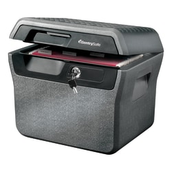 Sentry®Safe Waterproof Fire-Resistant File Holder, 44-Lb, 0.66 Cu Ft Capacity, Charcoal Gray