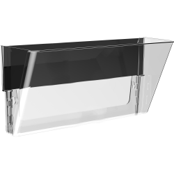 Storex Magnetic Wall File Pockets - 500 x Sheet - Cabinet, Wall Mountable - Recycled - Clear - Plastic - 1Each